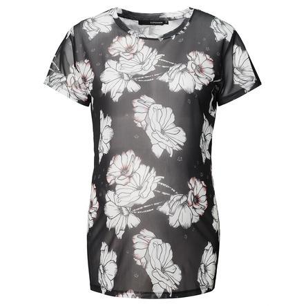 SUPERMOM T-shirt de grossesse mesh fleurs