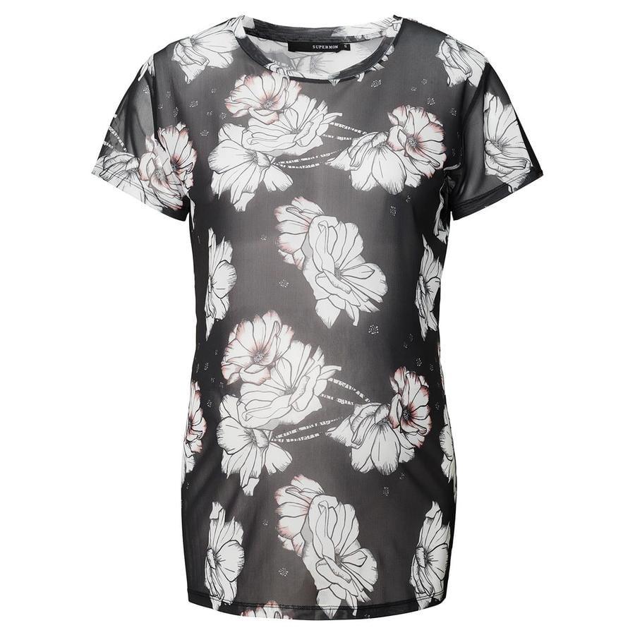 SUPERMOM Circumstance Shirt Koszulka Siatkowa Kwiatek