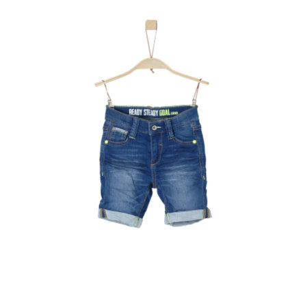 s.Oliver Boys Bermuda blue denim stretch