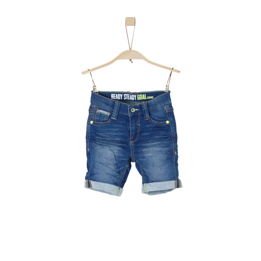s.Oliver Boys Bermudy Blue Denim stretch