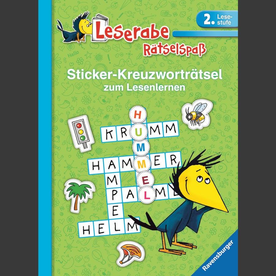 Ravensburger Leserabe 2. Lesestufe - Sticker-Kreuzworträtsel zum Lesenlernen grün