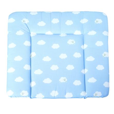 roba Materassino per fasciatoio soft Nuvolette blu 85 x 75 cm