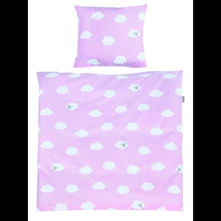 roba Beddengoed voor wieg 2-delig Kleine Wolk roze 80 x 80 cm