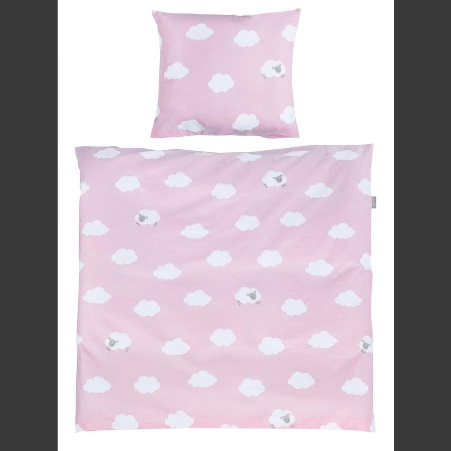 roba ložní set 2 dílná malé obláčky růžové 80 x 80 cm