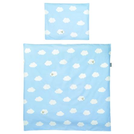 roba ložní set 4dílná malé obláčky modré 80 x 80 cm