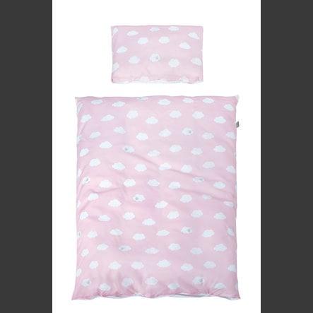 roba ložní set 2dílná malé obláčky růžové 100 x 135 cm