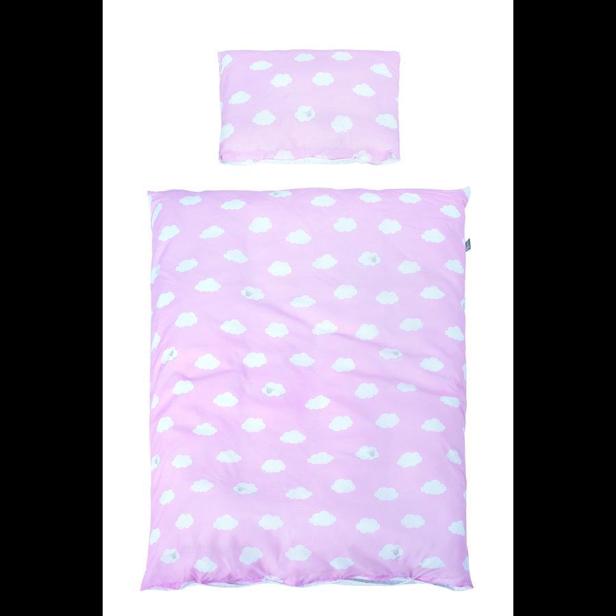 roba Bettwäsche 2-teilig Kleine Wolke rosa 100 x 135 cm