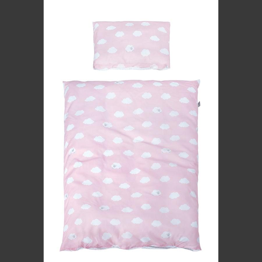 roba Påslakan 2 delar Little clouds rosa 100 x 135 cm