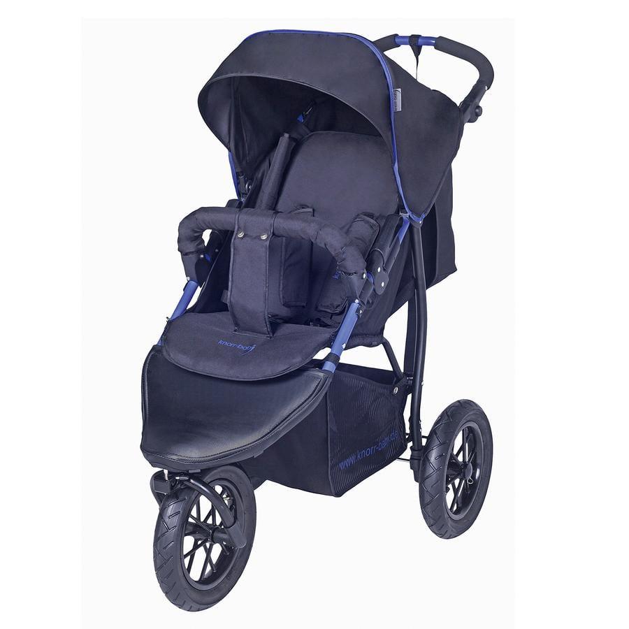 knorr-baby Sportwagen mit Schlummerverdeck Joggy S Schwarz-Blau
