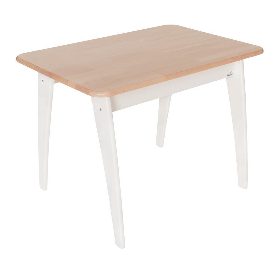 GEUTHER Tavolino Bambino bianco/legno naturale