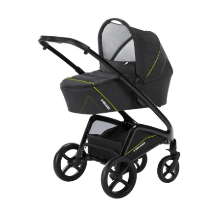knorr-baby Kombi-barnevogn HEAD darkgrey-yellow