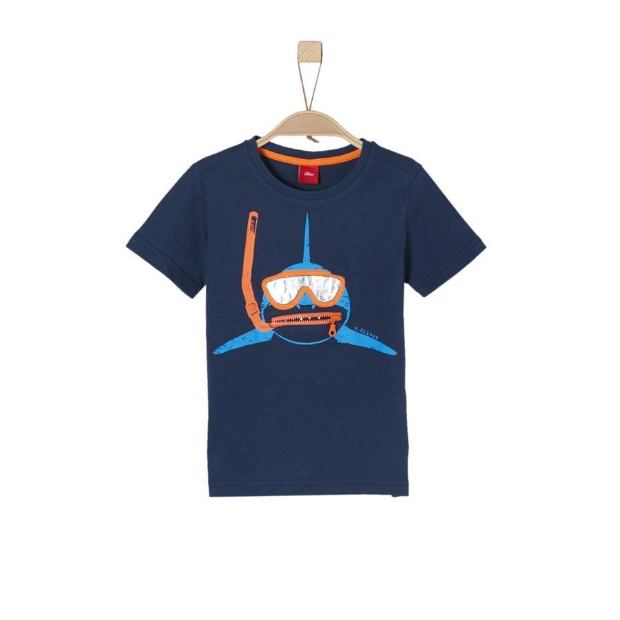 s.Oliver Boys T-Shirt azul oscuro