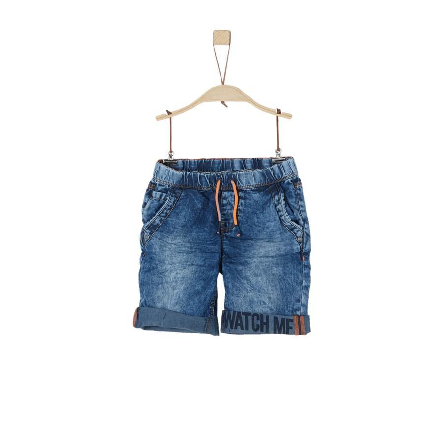 s.Oliver Boys Pantalones cortos azul denim no stretch