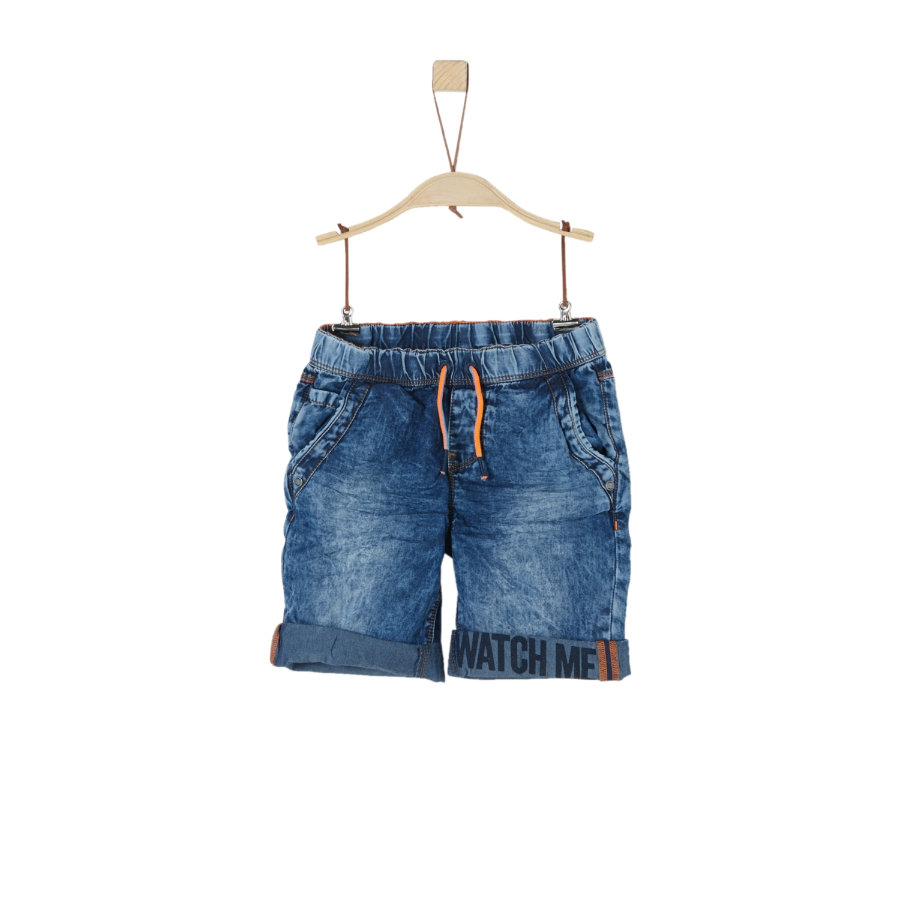 s.Oliver Boys Short denim bleu non extensible