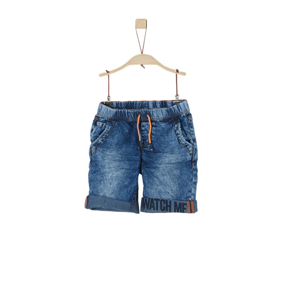 s.Oliver Boys Shorts blauw denim niet rekbaar