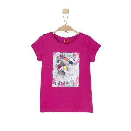 s.Oliver Girl s rose T-Shirt foncé