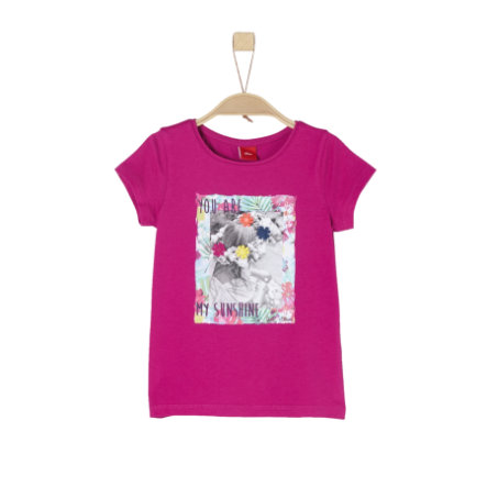 s.Oliver Girls T-Shirt dark pink