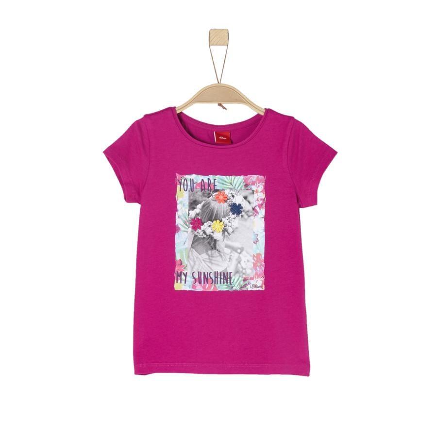 s.Oliver Girl s T-Shirt dark pink