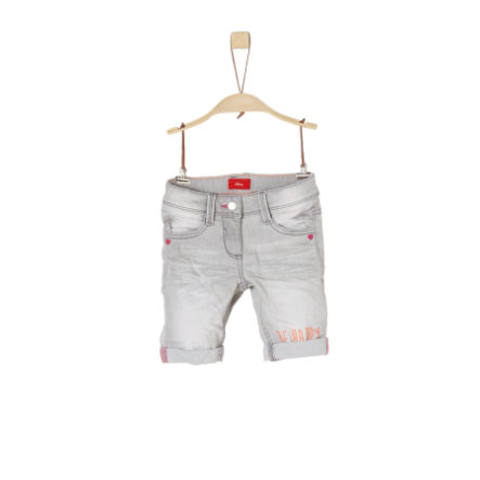 s.Oliver Girl s Shorts Bermuda gris/negro denim stretch