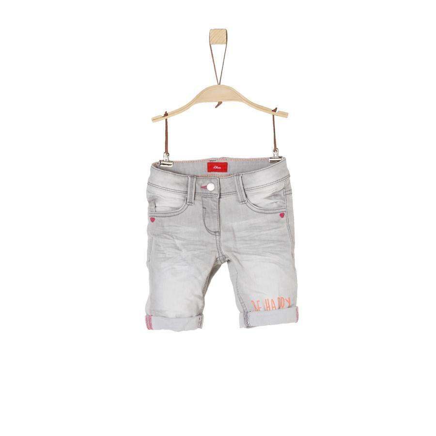 s.Oliver Girl s Shorts Bermudy Szary/czarny denim stretch
