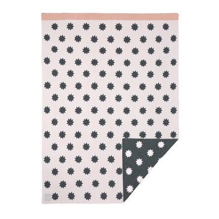 LÄSSIG Knitted Blanket Little Chums Stars light pink 75 x 100 cm