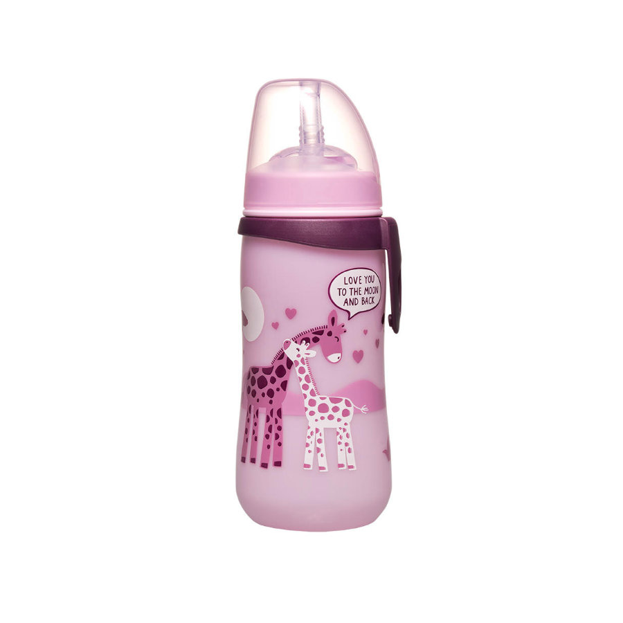 nip Straw Tazza PP giallo PP 330 ml Giraffe Girl