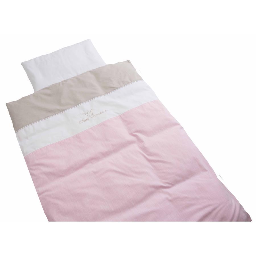 BeBes Collection Parure de lit enfant petite princesse rose 100x135 cm