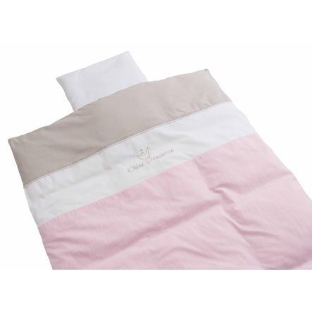 BeBes Collection Parure de lit petite princesse rose 80 x 80 cm