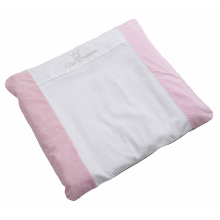 Wees 's Collection cover voor plastic aankleedkussen Kleine prinses rosa 85 x 75 cm.