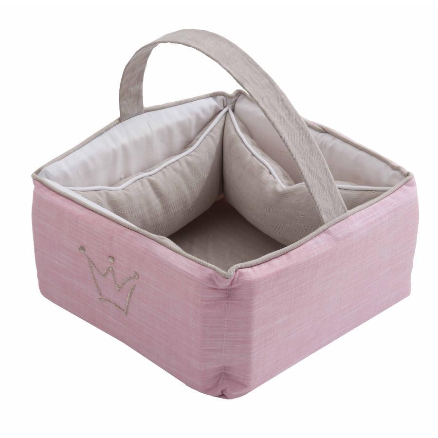Be Be's Collection Little Princess Care Košík růžový