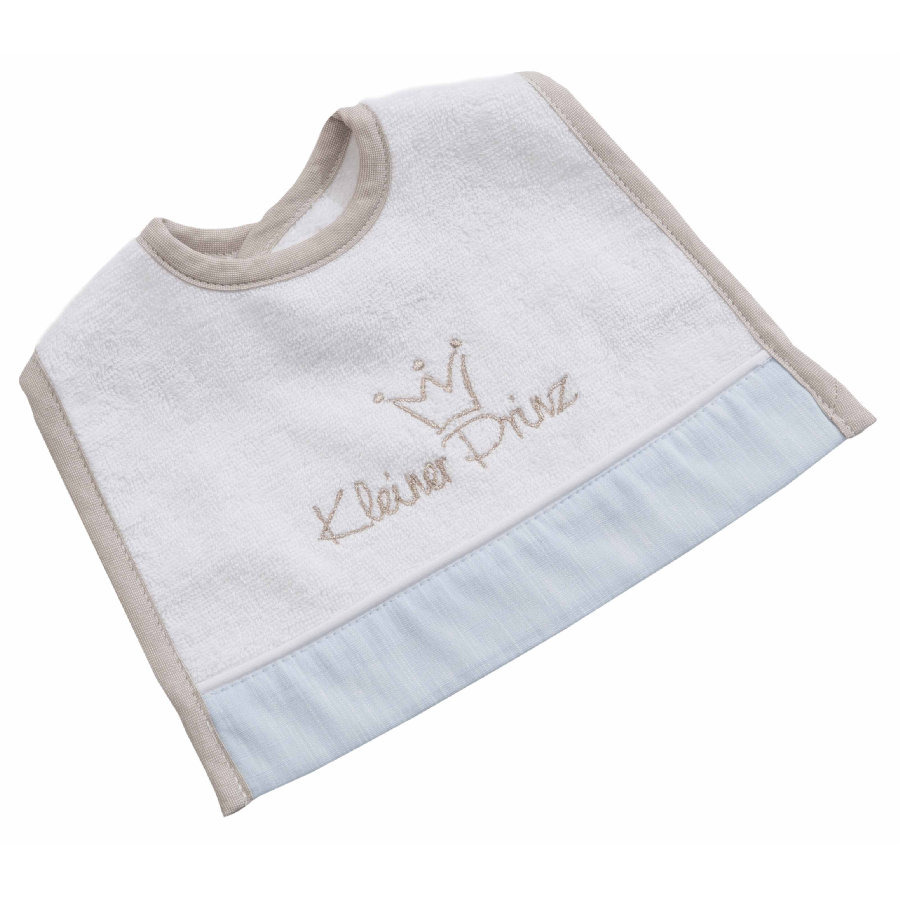 BeBes Collection Bavoir bébé scratch mini petit prince bleu