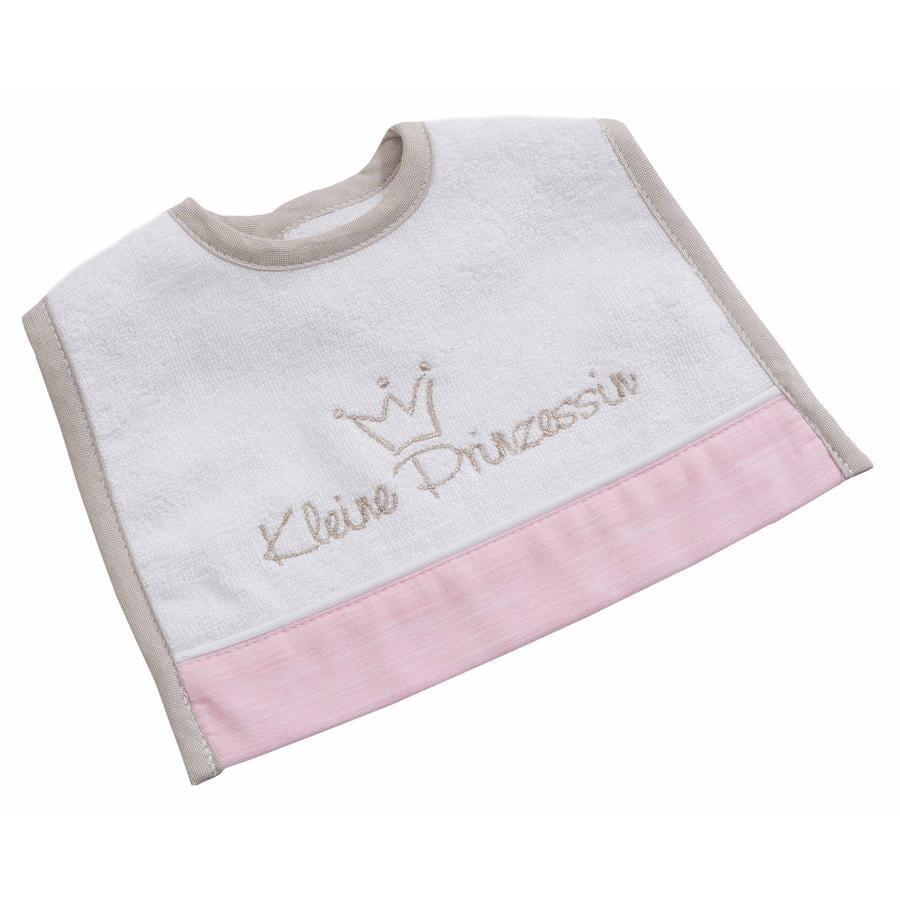 BeBes Collection Bavoir bébé autoagrippant mini petite princesse rose