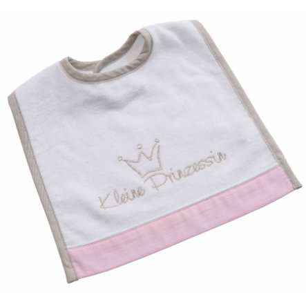 Be Be 's Collection Velcro Bib LITTLEle Princess rosa