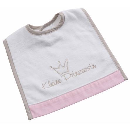 BeBes Collection Bavoir bébé autoagrippant petite princesse rose