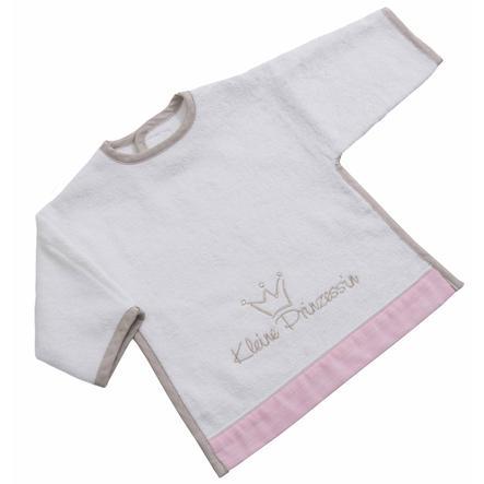 BeBes Collection Bavoir bébé à manches scratch petite princesse rose
