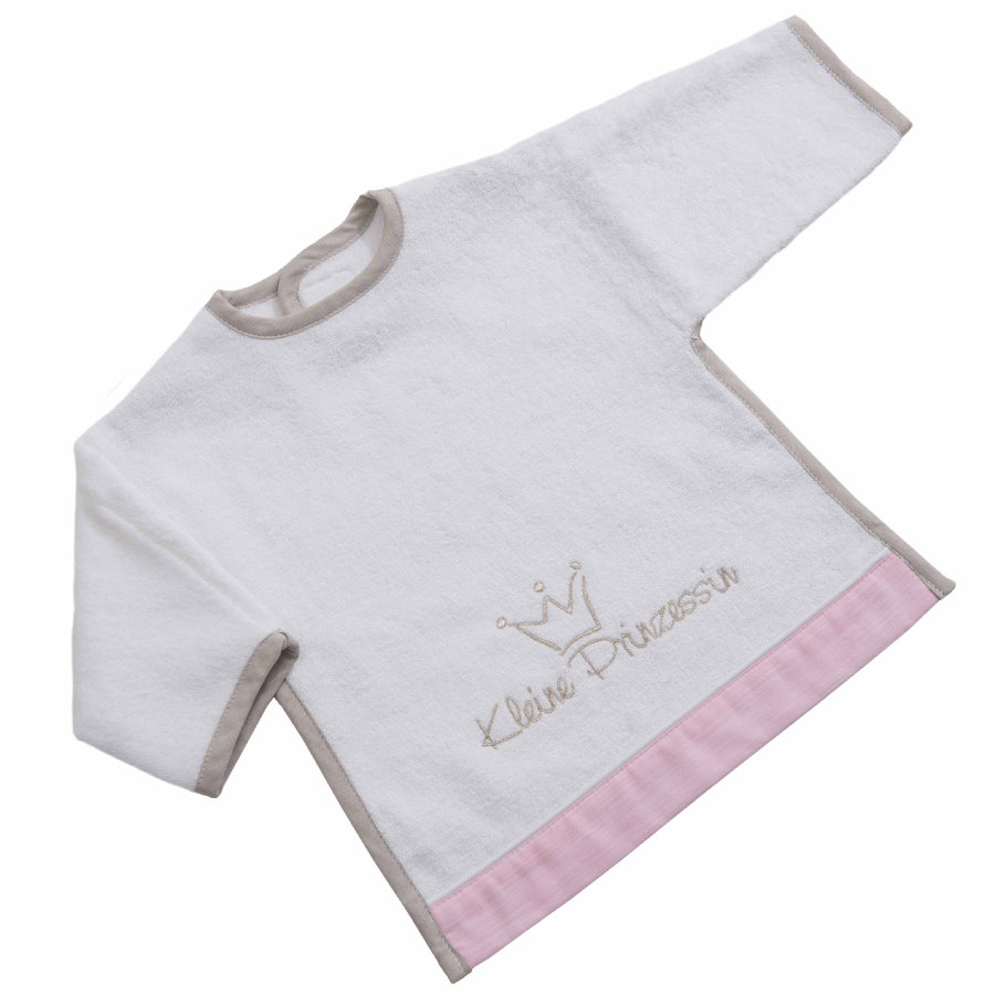 Be Be's Collection Bib s Velcro Little Princess růžová