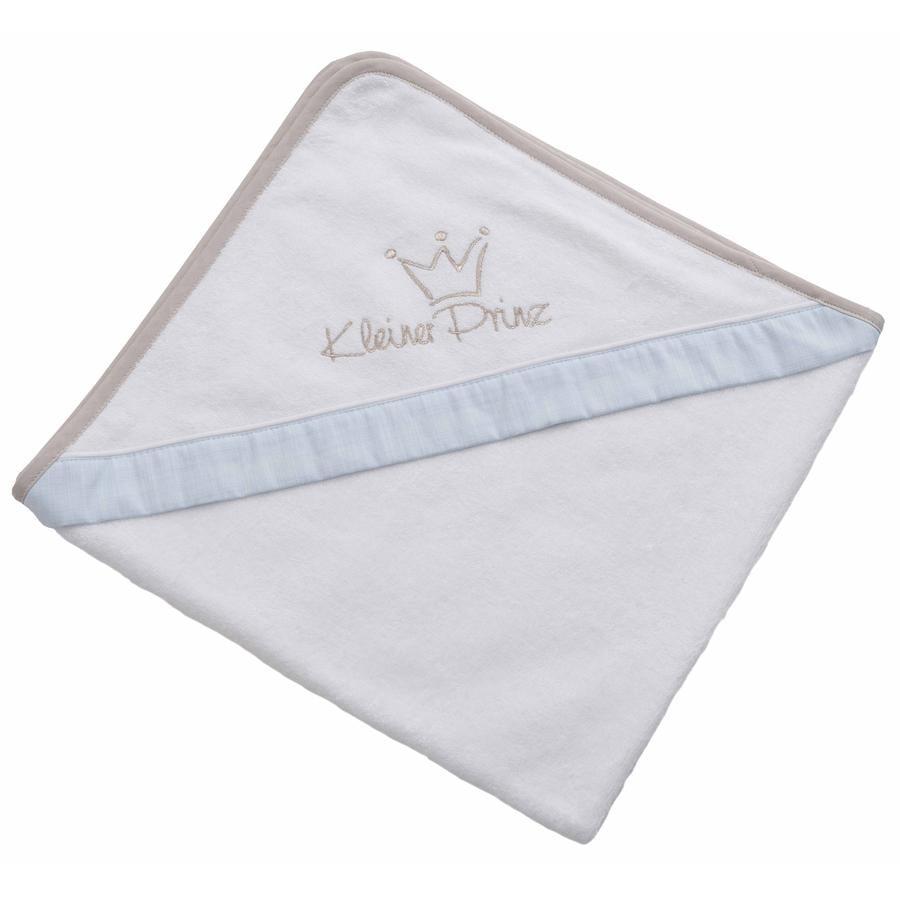 Be Be 's Collection Handdoek met capuchon Kleine prins blauw 80 x 80 cm