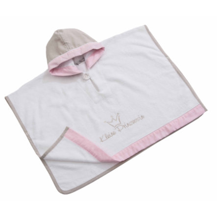 Be Be 's Collection Poncho met capuchon Kleine Prinses roze