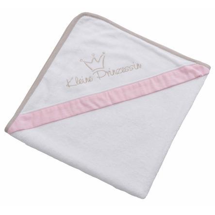 Be Be 's Collection Asciugamano con cappuccio piccola principessa rosa 100 x 100 cm