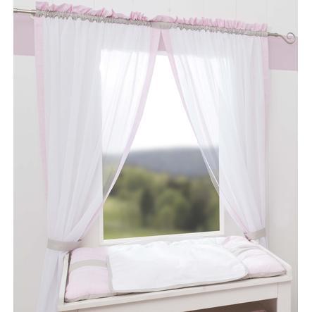 Wees 's Collection gordijn 2 lus sjaaltjes Kleine prinses rosa 100 x 240 cm