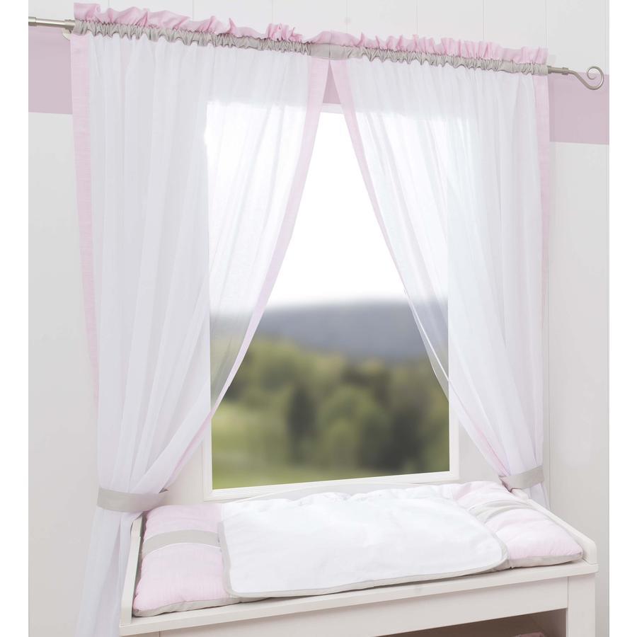Be Be 's Collection Vorhang 2 Schlaufenschals Kleine Prinzessin rosa 100 x 240 cm