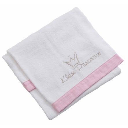 Be Be 's Collection Håndklæde Lille Prinsesse rosa 70 x 120 cm