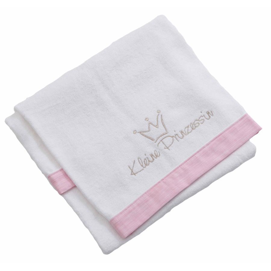 BeBes Collection Serviette de bain petite princesse rose 70 x 120 cm