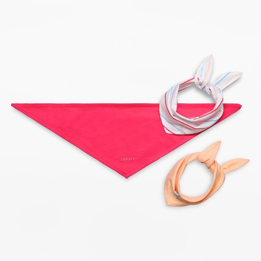 ESPRIT Girl s bufanda triangular 3-pack blanco