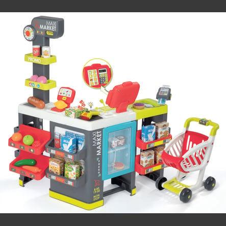 b19f66b10cfeb2 Smoby Maxi Supermarket z wózkiem na zakupy - pinkorblue.pl