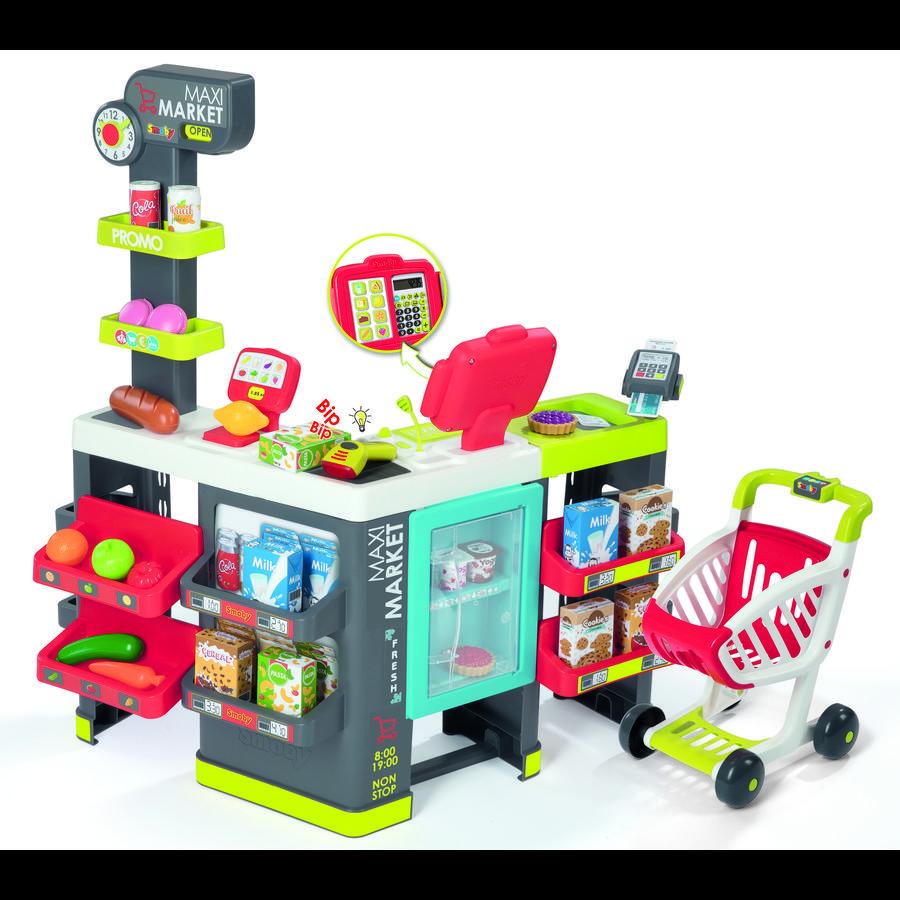 Smoby Maxi Supermarket z wózkiem na zakupy