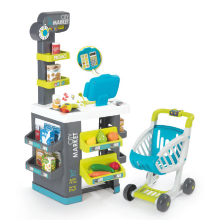 Smoby City Supermarket z wózkiem sklepowym