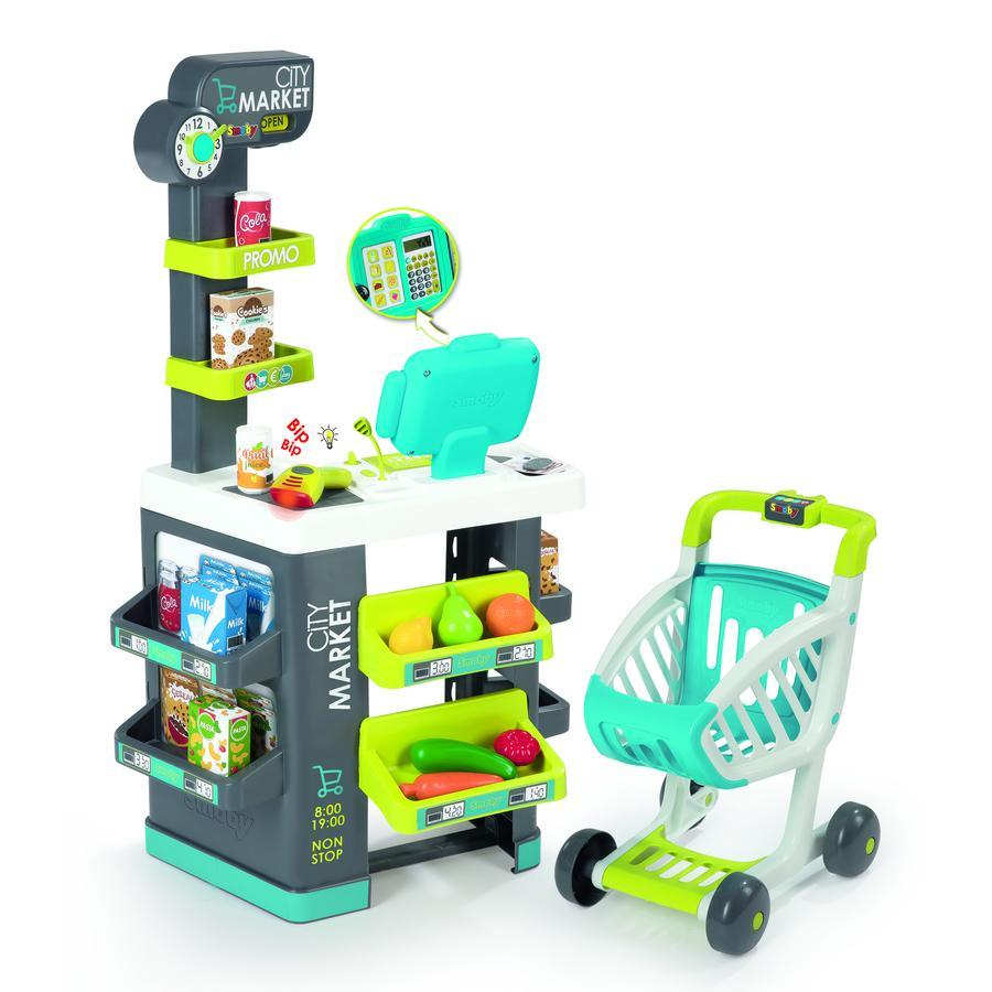 SMOBY Supermercado con carro de la compra