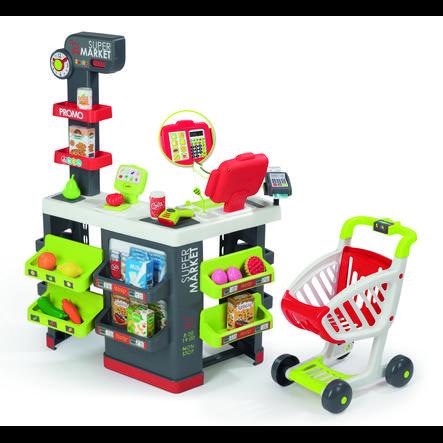 SMOBY Supermarket Leikkikauppa ja ostoskärryt