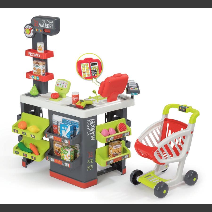 Smoby Supermarket z wózkiem sklepowym